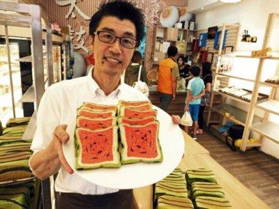 Pan sandía de Jimmy's bakery en Taiwán: ¿pan o sandía?