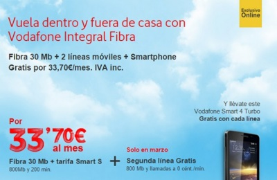 Vodafone se apunta a regalar una segunda línea con smartphone incluido junto al ADSL o fibra