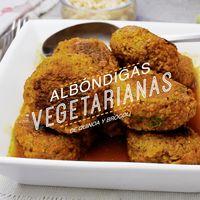 Albóndigas vegetarianas de quinoa y brócoli. Receta en video