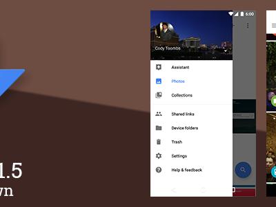 Google Photos 1.5 muestra los futuros cambios para la siguiente versión
