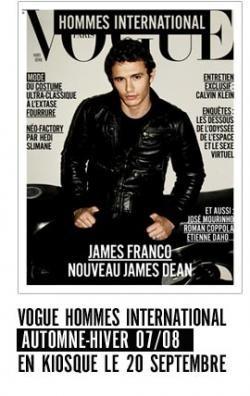 James Franco en la portada de Vogue Hommes International
