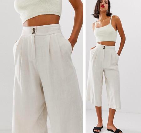 Estos Nueve Pantalones De Lino Son Clave Para Primavera Y Podras Llevarlos Tanto Con Sneakers Sandalias Planas O Taconazos
