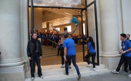 lanzamiento iPhone5 Apple Store Barcelona Paseo de Gracia