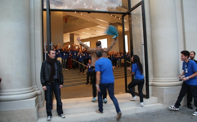 lanzamiento iPhone5 Apple Store Barcelona Paseo de Gracia