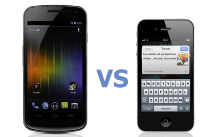 Galaxy Nexus vs iPhone 4S en vídeo