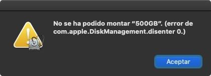 Error Disco Mac