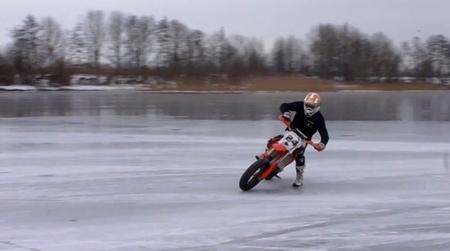 Frío, nieve, hielo, Jurgen van den Goorbergh y una Honda CR-F