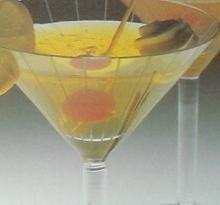 Cóctel de gelatina al limón