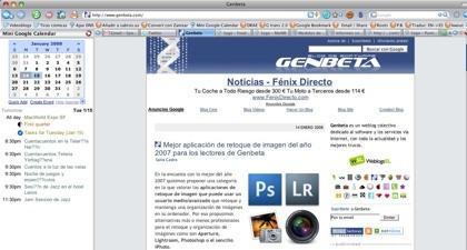 Google Calendar en Firefox