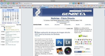 Google Calendar Sidebar para Firefox