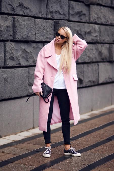 Abrigo rosa corte masculino Victoria Tornegren
