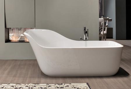 Bañera Wanda de Antonio Lupi para tomar un baño en privado