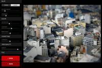 Tiltshift Generator, editor online para efecto tilt shift