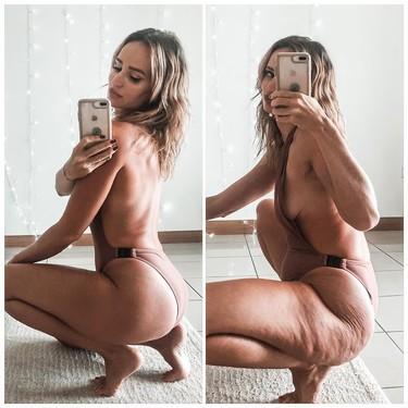 Esta cuenta de Instagram normaliza los cuerpos reales con estrías y celulitis y demuestra como una pose puede cambiar una foto
