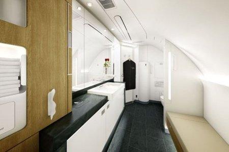 Lufthansa tiene nuevos baños en sus aviones de primera clase
