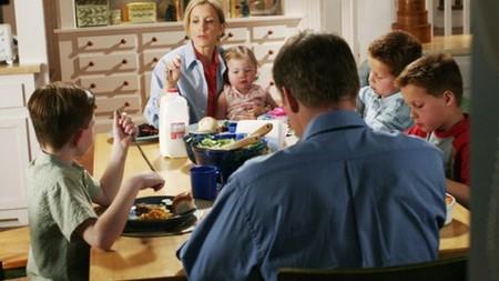 La familia Scavo a la mesa