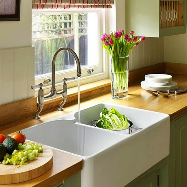 C mo elegir el fregadero para la cocina fotos for Fregaderos de porcelana para cocina