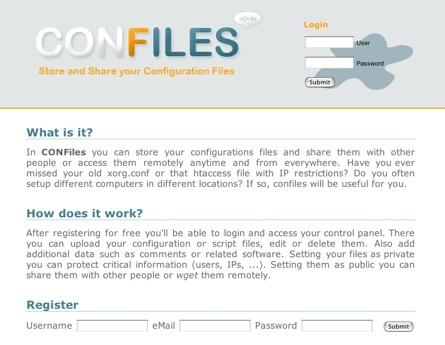 Confiles, guardando y compartiendo archivos de configuración
