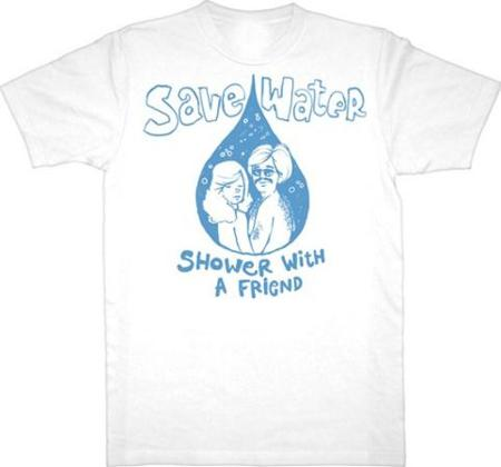 Camiseta con mensaje ecológico... que ayuda en materia romántica
