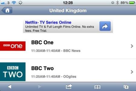 iOSLiveTV, usa tu dispositivo iOS como si de una TV se tratase