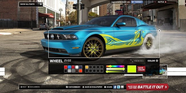 Configurador Ford Mustang