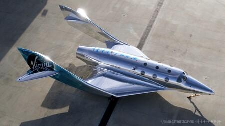 Así es VSS Imagine, la nueva nave espacial de Virgin Galactic con un diseño retro-futurista de ciencia ficción