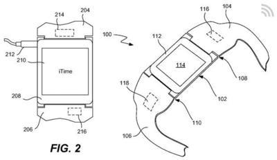 iTime, una nueva patente de Apple muestra más características del iWatch