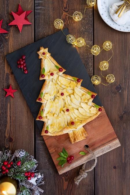 Tarta De Manzana Con Forma De Arbol De Navidad 2