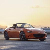 El Mazda MX-5 recibe una edición limitada a 3.000 coches para celebrar su 30 aniversario, y todos son naranjas