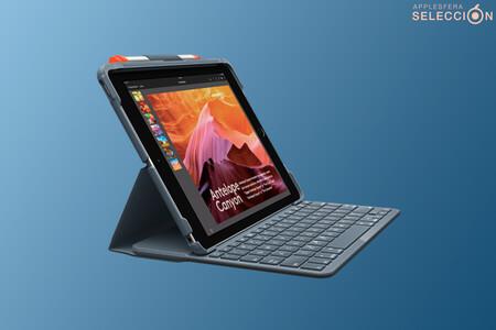 """Convierte el iPad de 10,2"""" en un """"mini portátil"""" con la funda con teclado integrado Logitech Slim Folio por 59,39 euros en Amazon"""