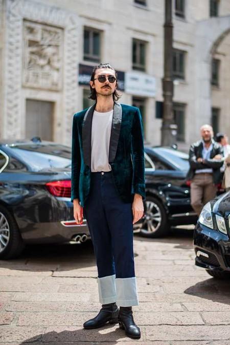Trendencias Hombre Terciopelo Street Style 2018 17