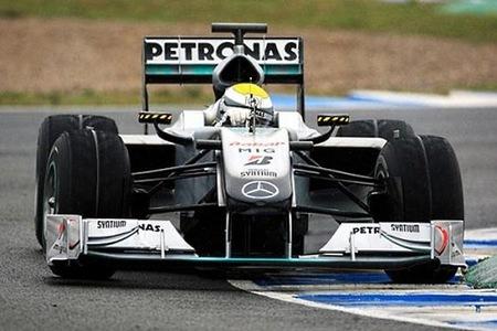 Nico Rosberg el más rápido durante el primer y lluvioso test en el Circuito de Jerez