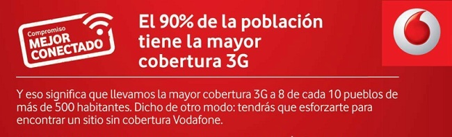 Compromiso mejor cobertura Vodafone