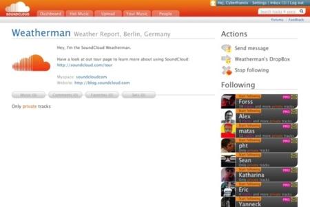 SoundCloud, envía y recibe pistas musicales con otros usuarios