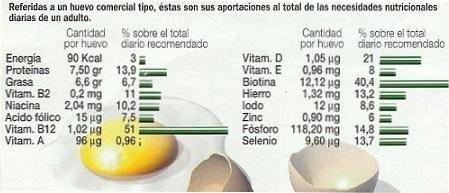 Propiedades del huevo