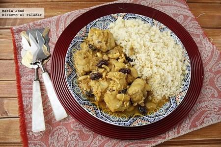 Pollo marroquí con cuscús, receta fácil y rápida con Thermomix