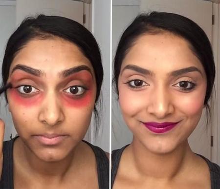 ¿Un labial rojo para quitar las ojeras? Sí, parece que es posible