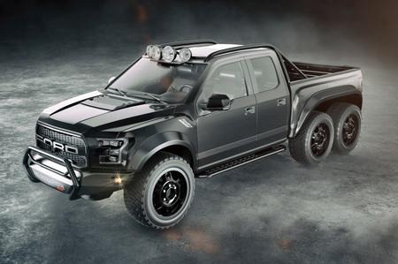 ¿Buscabas una pick-up de tres ejes y 600 hp? La Hennessey Velociraptor 600 6x6 es para ti