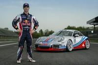 Sébastien Loeb con los colores de Martini Racing en la Porsche Supercup