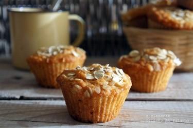 "Muffins ""fruta y fibra"". Receta"
