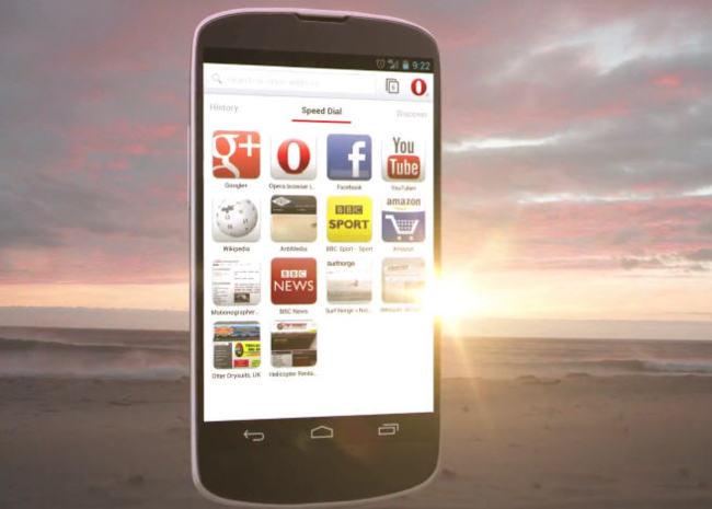 Opera 14 beta para Android con WebKit