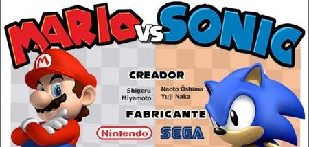 Imagen de la semana: infografía que enfrenta a Mario y Sonic