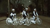 Volvo lanzó una pintura reflectante para volver más visible a los ciclistas