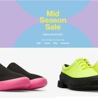Mid Season Sale en Camper con descuentos de hasta el 40% en zapatos y zapatillas para hombre y mujer