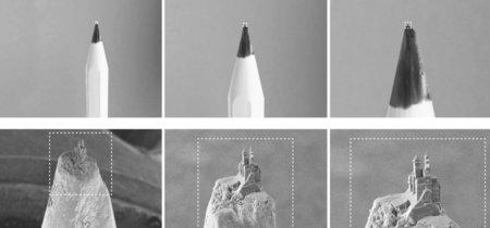 Imprimiendo un castillo en 3D en... la punta de un lápiz