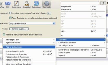 Como habilitar las extensiones en Safari 5