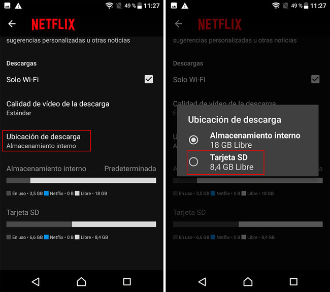 How to download series and movies from Netflix on the SD