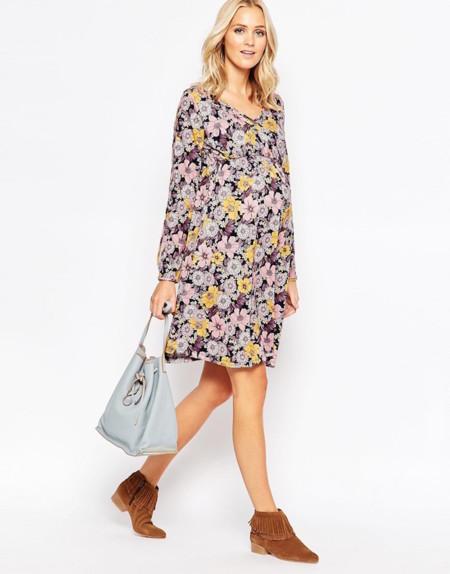 8 vestidos premamá para dar la bienvenida al otoño