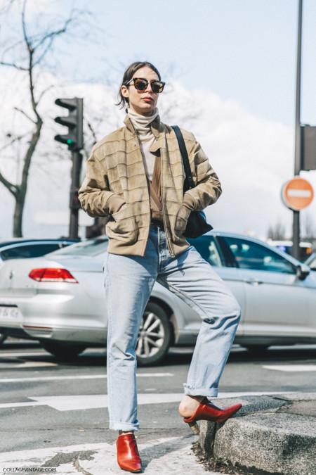 Pfw Paris Fashion Week Fall 2016 Street Style Collage Vintage Irina Lakicevic Celine 1