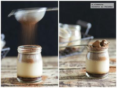 Natillas de Nutella con caramelo de chocolate. Receta